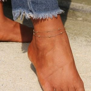 Accessories - Layered Beaded Anklet